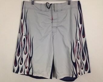 Grey and navy blue fir trunks / shorts size M