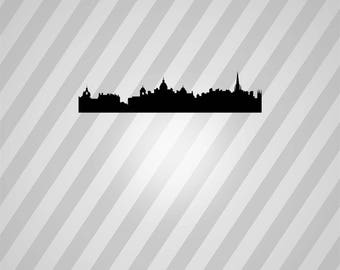 edinburgh skyline Silhouette - Svg Dxf Eps Silhouette Rld RDWorks Pdf Png AI Files Digital Cut Vector File Svg File Cricut Laser Cut