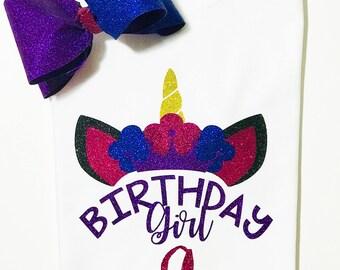 Princess Unicorn Birthday Shirt