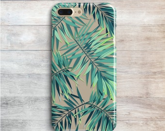 Green Tropical Leaves Case Samsung Galaxy S8 iPhone 7 iPhone 7 Plus Silicone Case iPhone 6 iPhone 6S iPhone 6 Plus iPhone SE Galaxy J3 J5 J7
