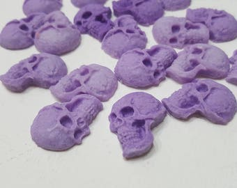 Highly scented lavender soy skull wax melts