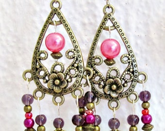 Earrings Baroque pink whims
