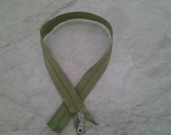 Zipper length green 55 cm
