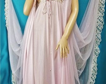 Lucie Ann, 20% discount code, peignoir set pink size small