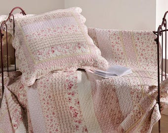 Plaid, quilts, bedspreads, flowers, 150 x 150 cm L l