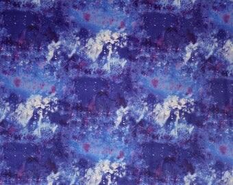 Velvet fabric by the meter, NEBULA, sunset, sky, polyester, velvet