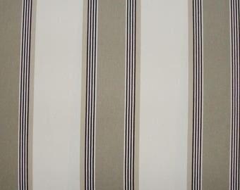 Fabric, Jacquard stripes bayadères, twine, 280 cm H Amario, Thévenon