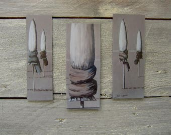 Set of bookmarks painting (Lec - B)