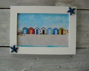 Setting: beach huts