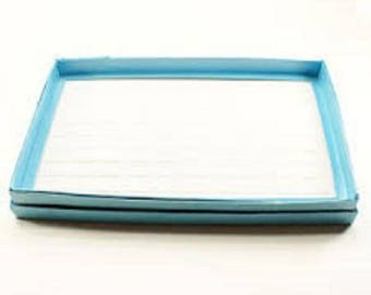 display tray for 12 blue vintage rings new