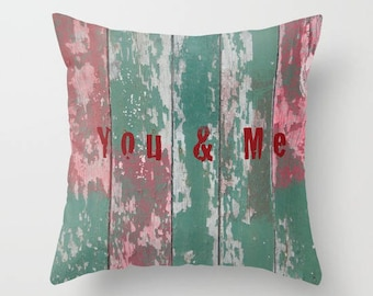 Message Cushion cover printed in France You & me