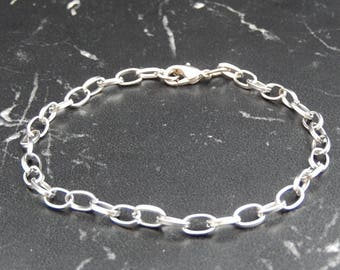 5 bracelet with silver chain with lobster clasp, length 15cm