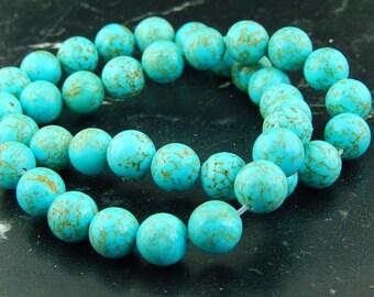 10  Perles de Turquoise 10mm