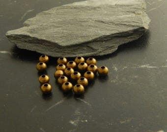 Antique set of 20 bronze spacer beads