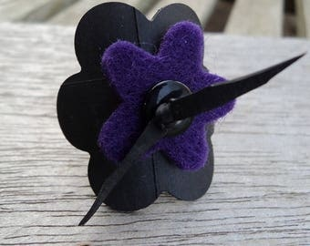 Ring in inner tube recycled and purple felt