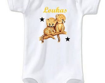Bodysuit baby Cubs personalized with name