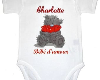 Love personalized with name baby Bodysuit