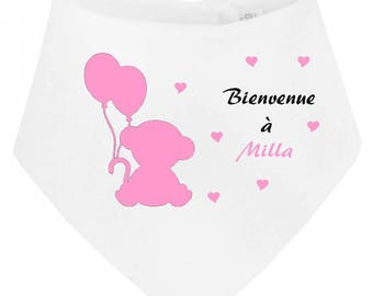 Baby bandana bib has... personalized with name