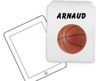 Cover for tablet pc basketball personalized with name