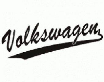 "P.V.C 200 Micron ""Volkswagen Logo"" stencil reusable 26 x 10 cms"