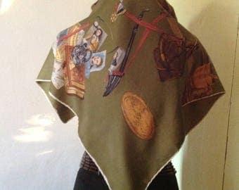 Old, vintage silk scarf, 50s-60s