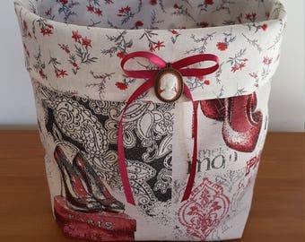 Large empty pockets the romantic fabric basket pattern shoe is handmade