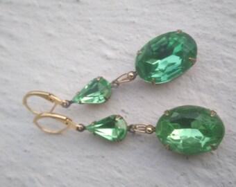 Wonderful: Gold and peridot crystal glass