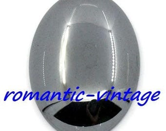 stunning cabochon of 25 * 18mm metal imitation hematite, gun metal color
