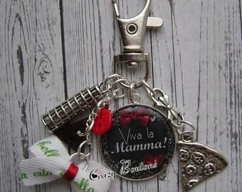 """Keychain or bag charm """"Viva la Mamma"""""""