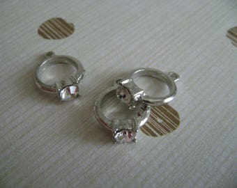 Rhinestone rings charms