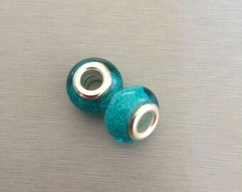 Acrylic TURQUOISE bead
