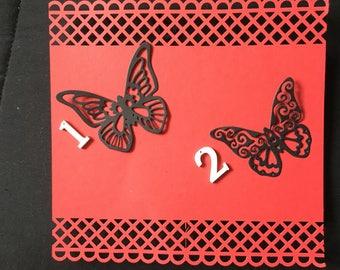set of 10 Butterfly scrapbooking die cuts