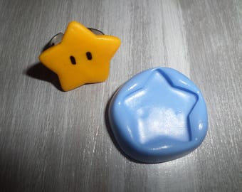 Mold for polymer clay Star 2.3 cm