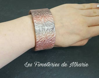 Mica shift polymer clay Cuff Bracelet