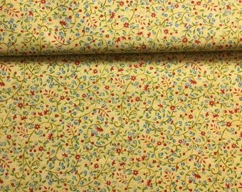 Brown and yellow floral Liberty fabric