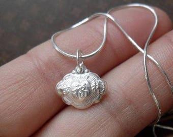 Necklace Silver 925 lucky FU