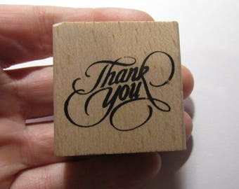 thank you 40mm wooden stamp