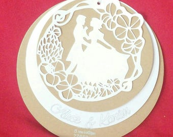 vintage white lace wedding invitation natural