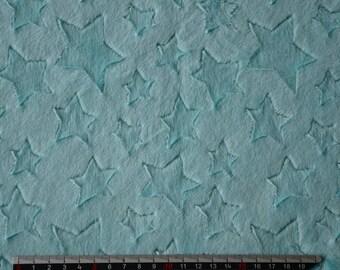 Opal pattern minkee fabric stars