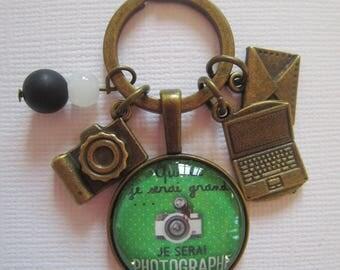 """I will be photographer"" keychain, bronze"