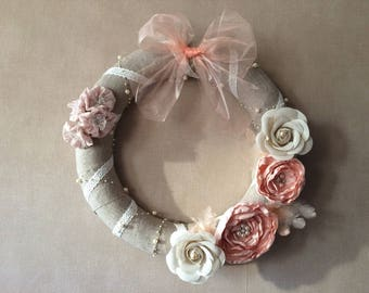Large Crown in linen shabby chic style