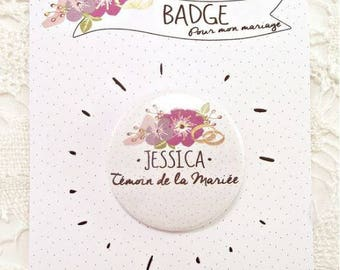 6 personalized badges illustration witness name to personalize