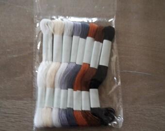 Canvas embroidery thread