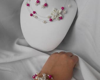 Set this 3 piece with necklace, bracelet and earrings