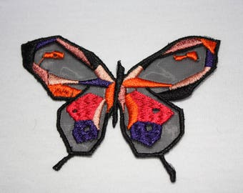 1 attractive Butterfly colored veil (small size)