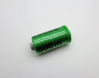 500 polyester sewing thread m bright green