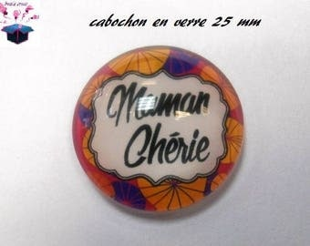 1 cabochon clear 25 mm theme Mommy