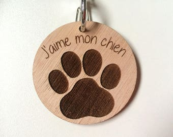 "Double key chain engraved wooden ""Love Her"" & ""Love Him"" way puzzle and its mount - custom keychain"