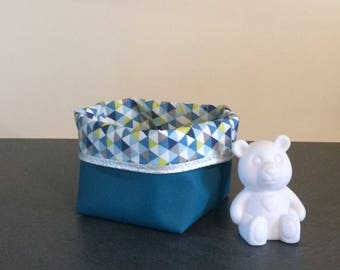 Storage pouch silili leather reversible storage basket storage basket and quality cotton fabric.