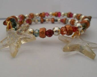 Harmonic Brown Beads Bracelet different shades